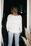 With a Twist Sweater Off White