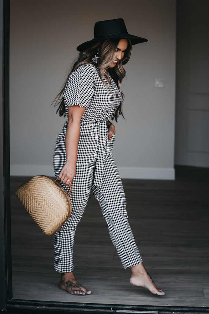 Gingham Style Jumpsuit