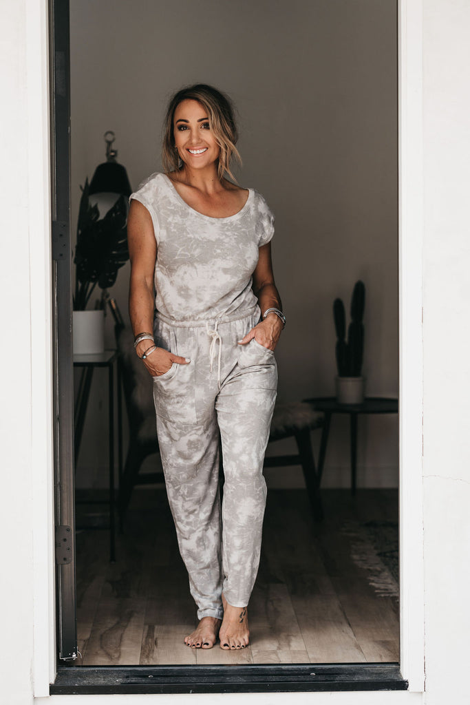 Escape Tie Dye Jumpsuit Grey