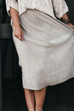 Cheers Champagne Pleated Skirt