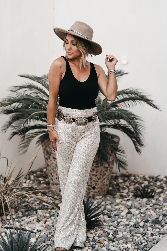 Sparkle + Shine Sequin Pants