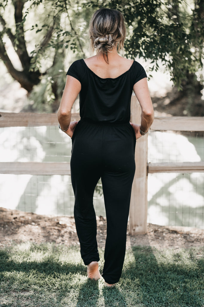 Weekend Worthy Jumpsuit Black