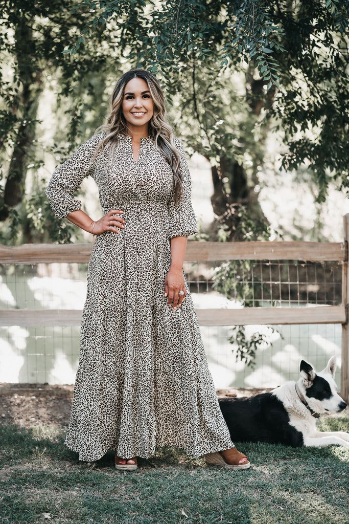 Leopard As Usual Maxi Dress
