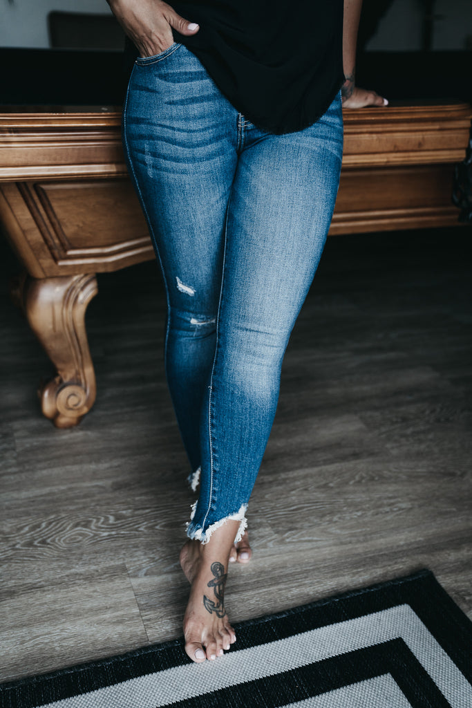 Edgy High Rise Jeans