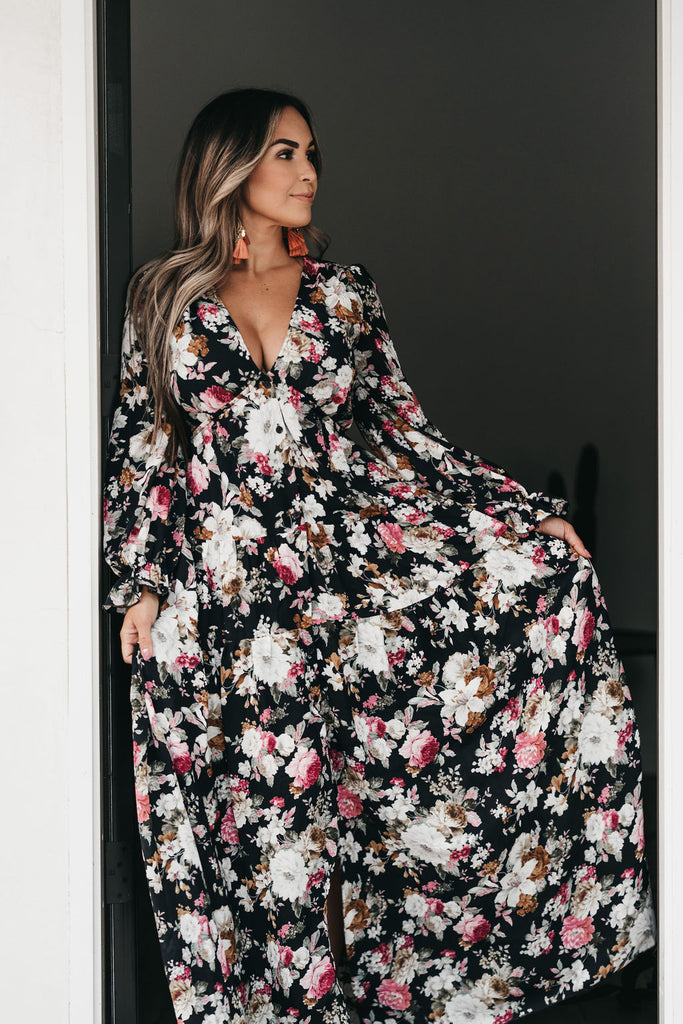 Secret Garden Maxi Dress Navy