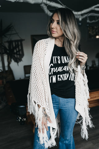 Make It Shine Cardigan Black
