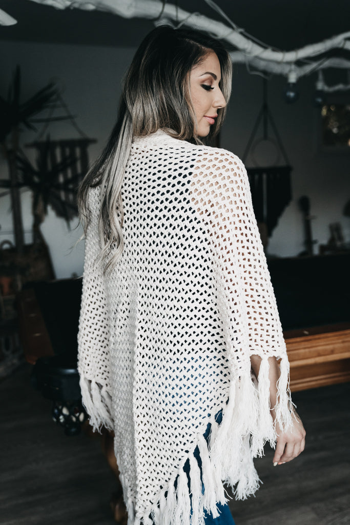 Fall For Me Knit Kimono Blush