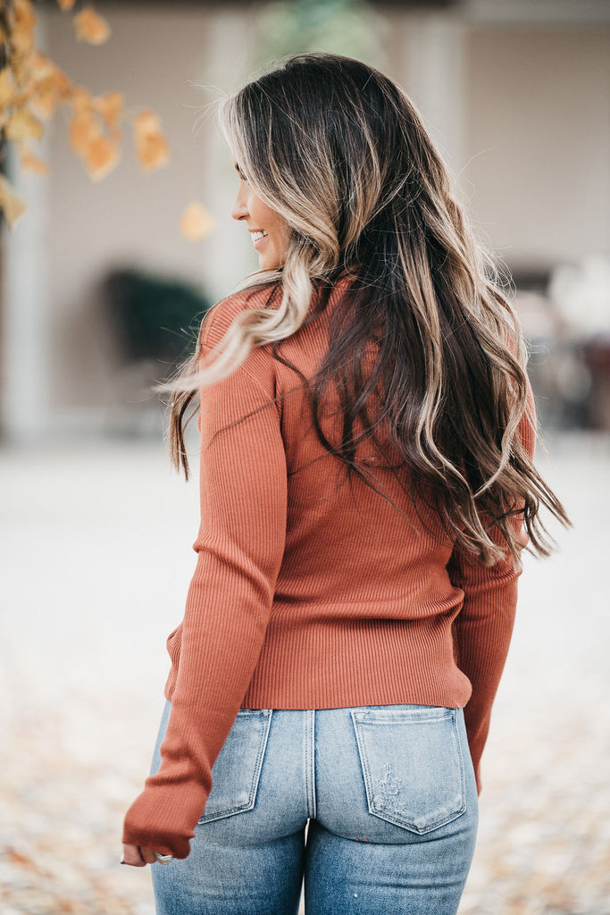 Eva One Shoulder Top Rust