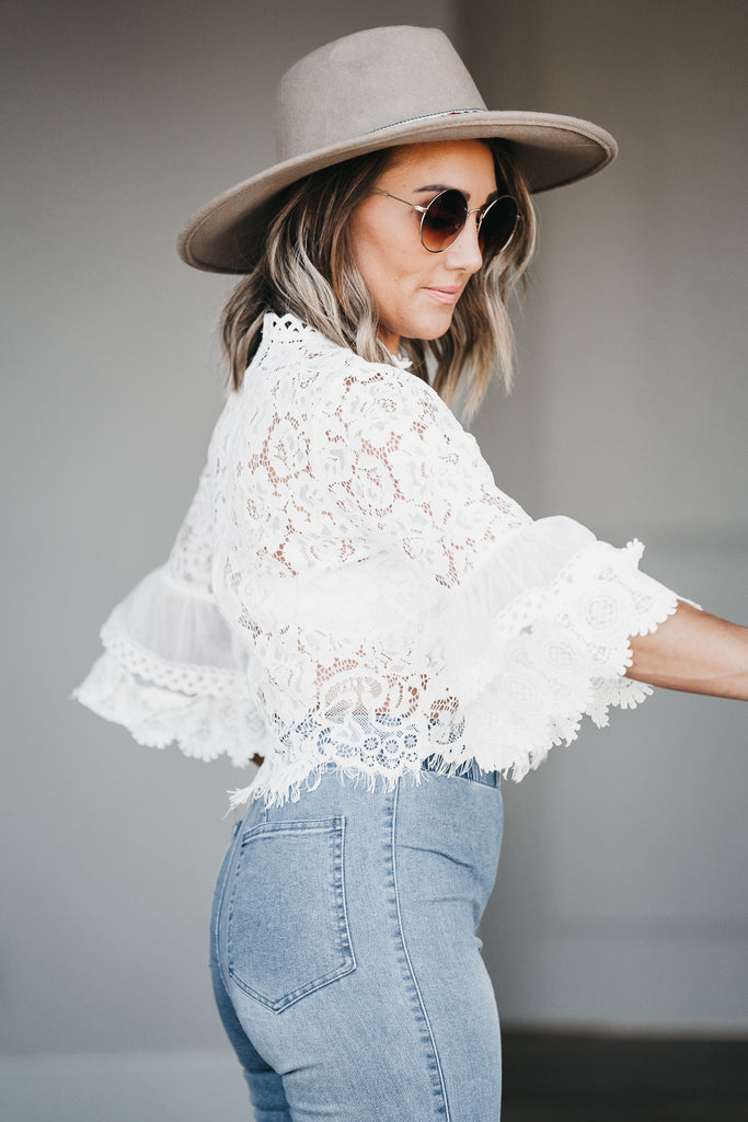 My Way Lace Blouse Off White