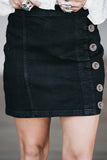 Design By Denim Skirt Black