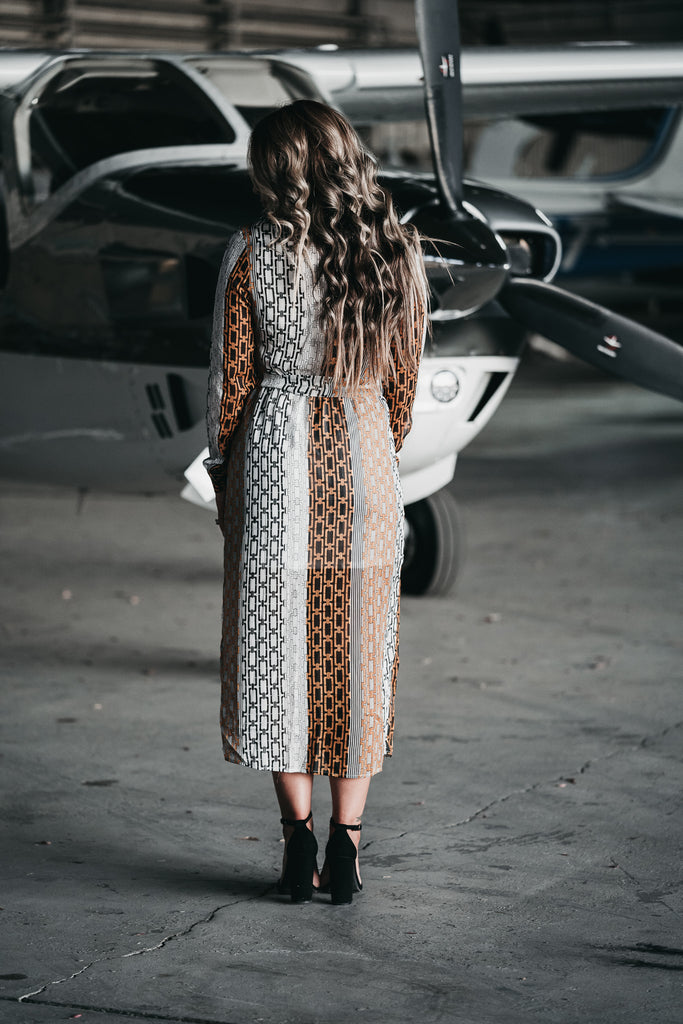 Going Places Midi Dress