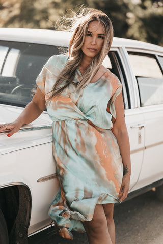 Caribbean Tie Dye Dress