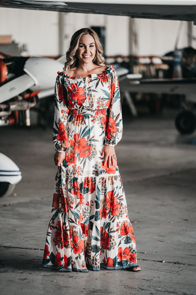Hawaiian Holiday Maxi Dress