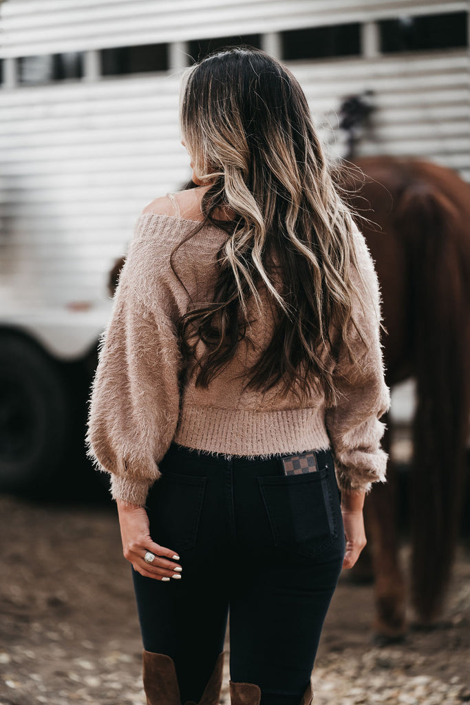 Fuzzy Ways Sweater Mocha