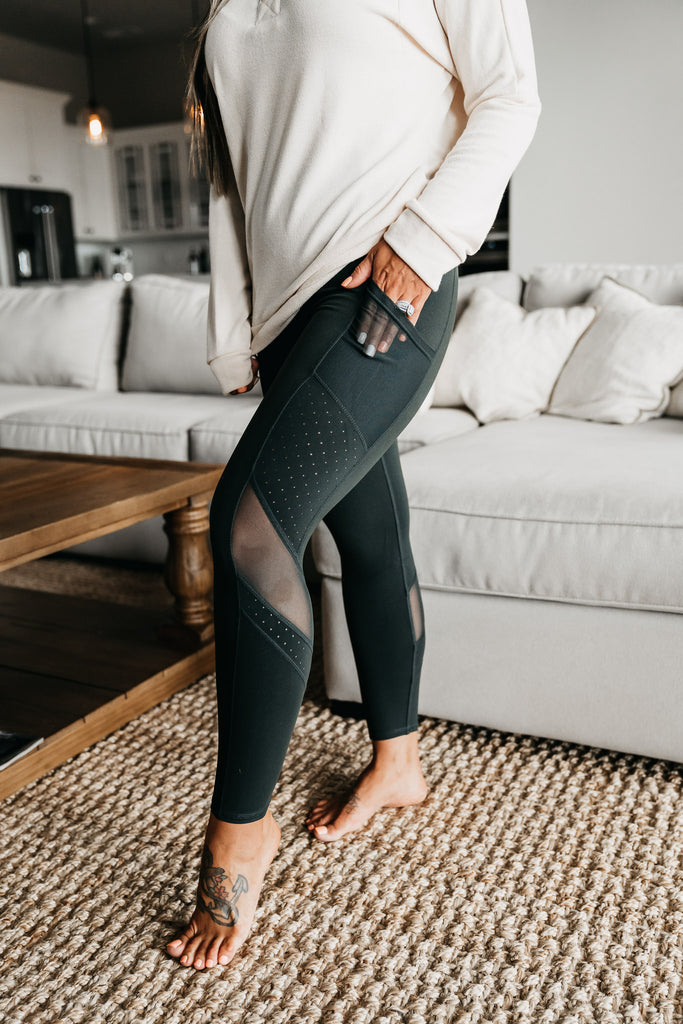 Make It Happen Leggings Hunter Green