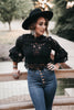 My Way Lace Blouse Black