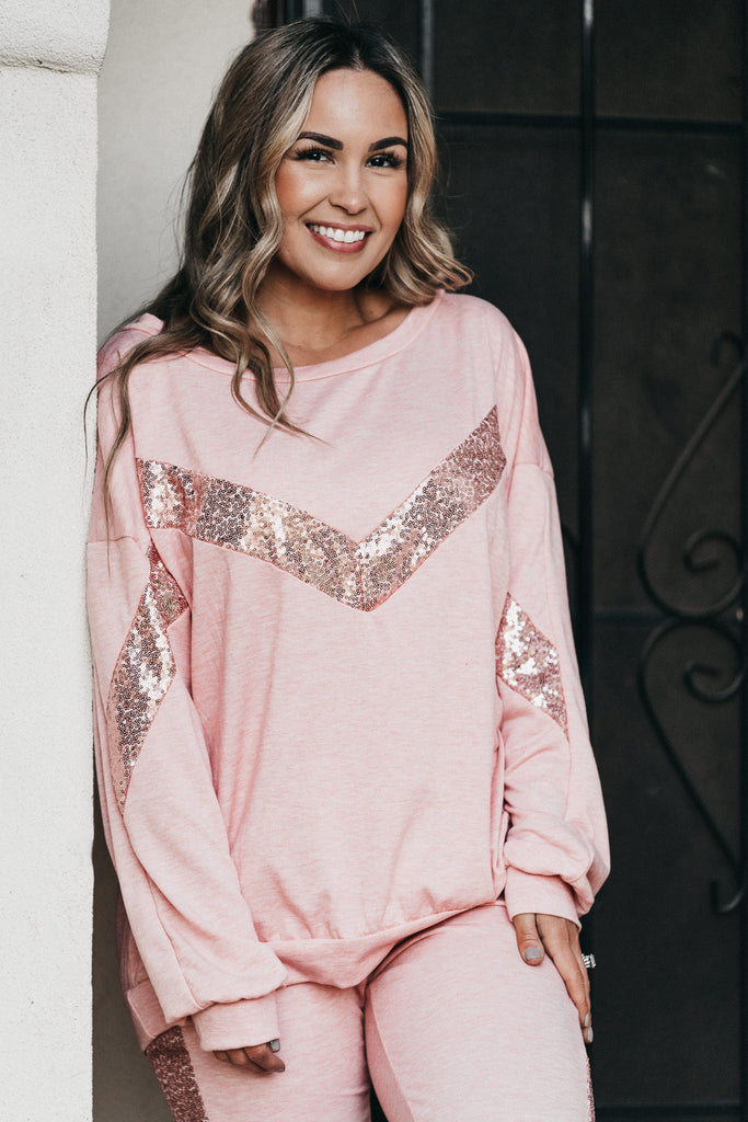 Always Cozy Sequin Top