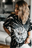 Eye of The Tiger Tie Dye T-Shirt Black
