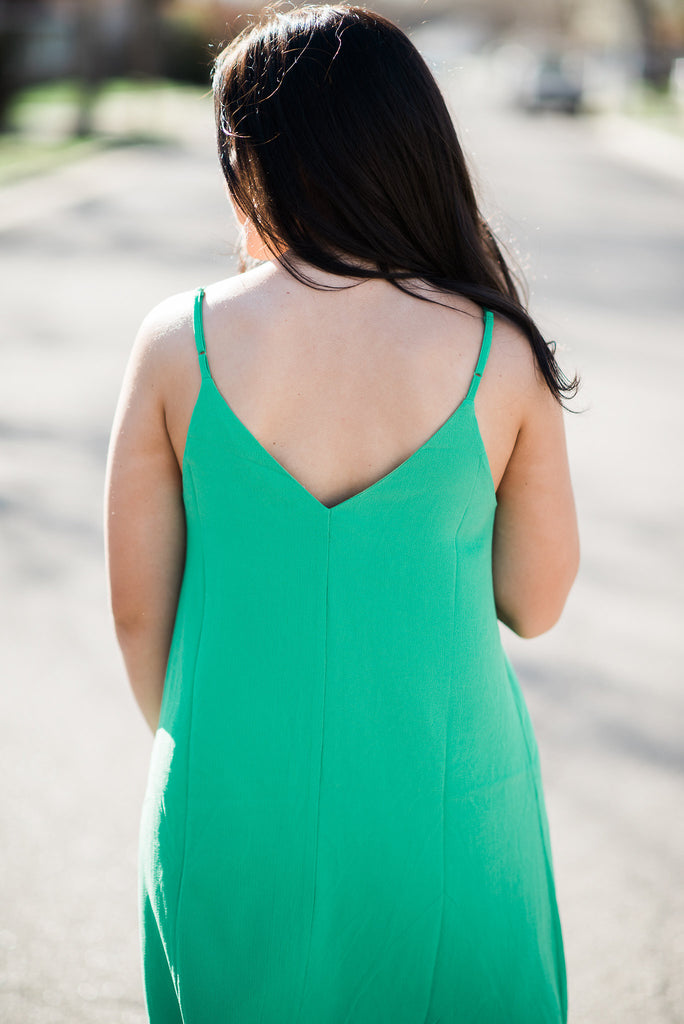 Short Dress - Green or Coral