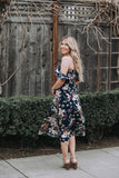 Poppy Fields Floral Midi
