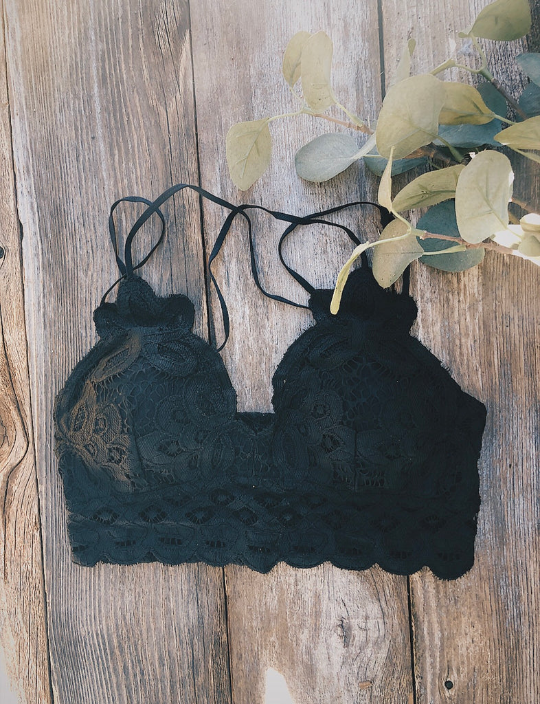 Pre Order:Love on You Lace Bralette Black