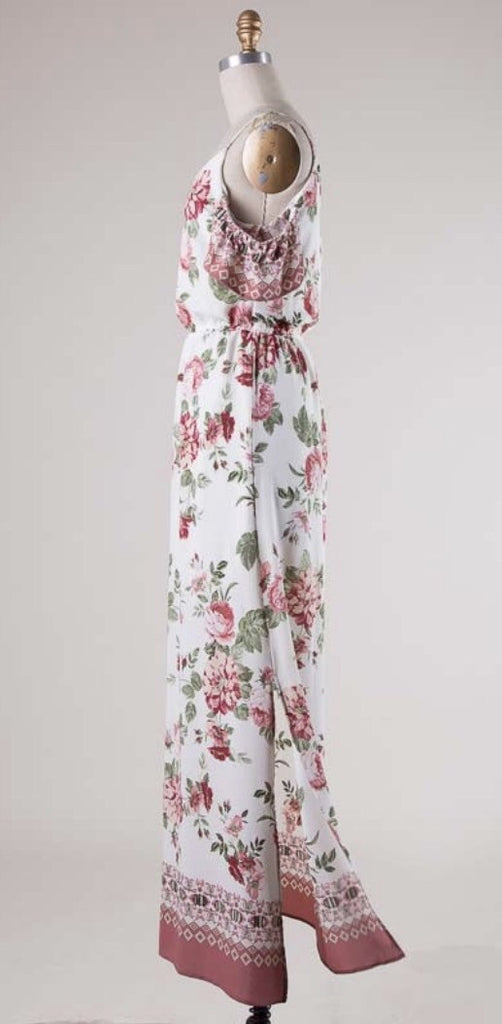 Whimsical Gardens Floral Maxi