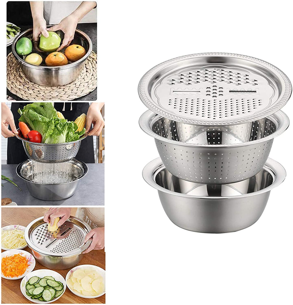 3in1 Stainless steel Multifunctional Basin