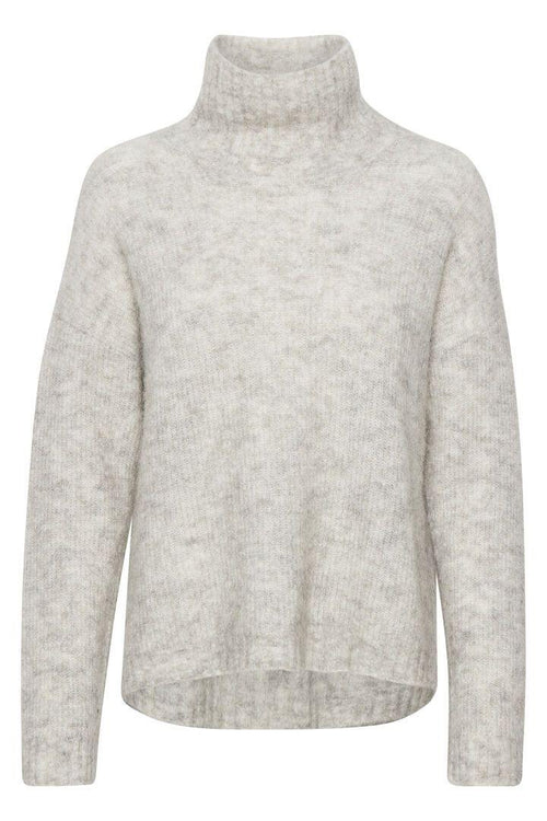 Denim Hunter Knit Rollneck - Højhalset stik m. uld (4817550770255)