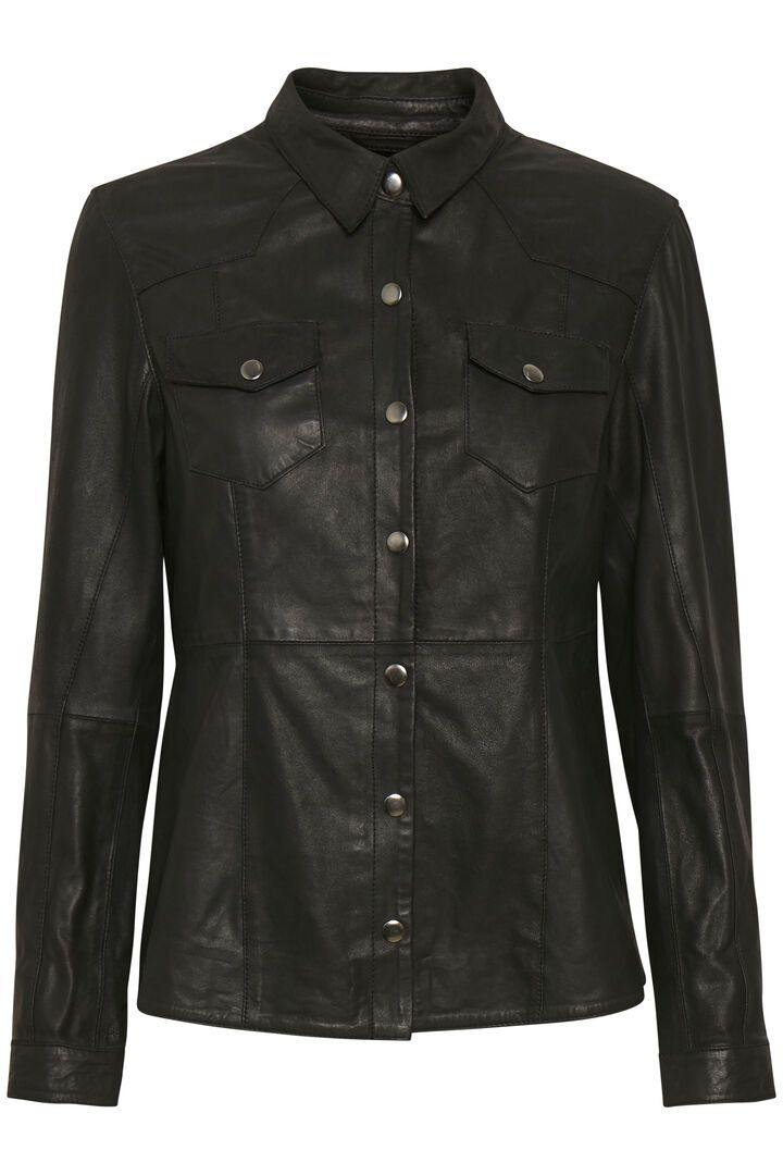 Denim Hunter Leather Shirt - Læder skjorte (4817551261775)