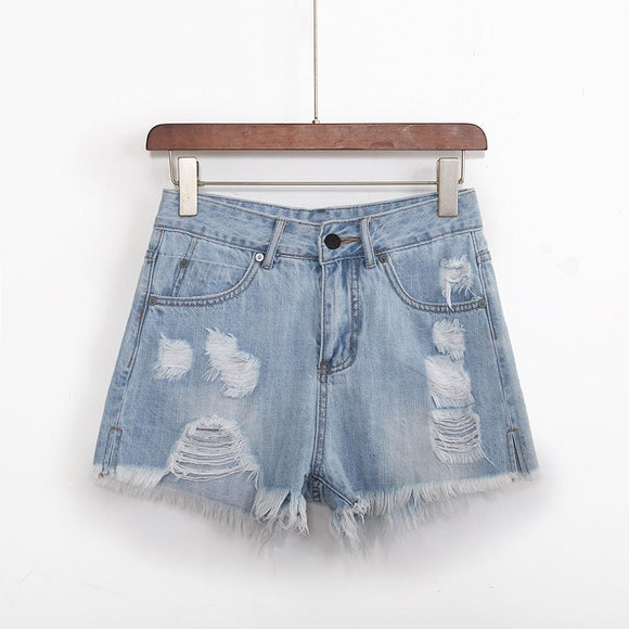 New casual denim shorts  women summer hot sale fashion  shorts high waists fur-lined leg-openings sexy short Jeans - Ozone Bay