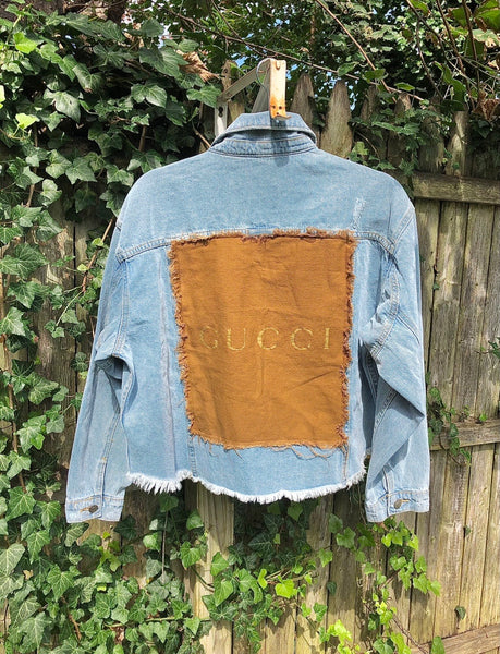 Upcycled Dustbag Denim Jacket SMALL