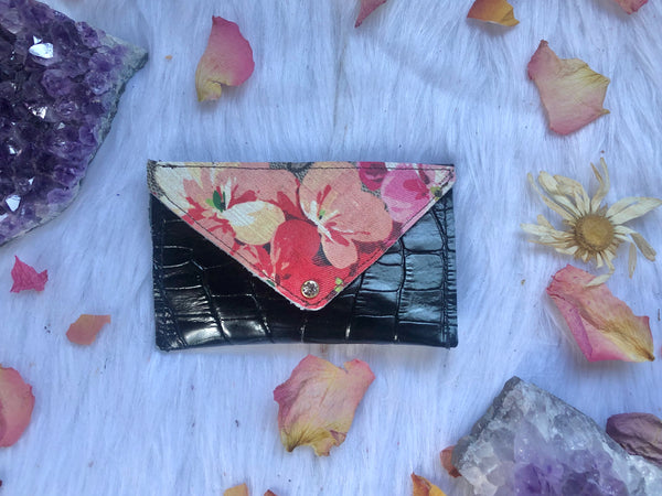 Upcycled Bloom Card Holder