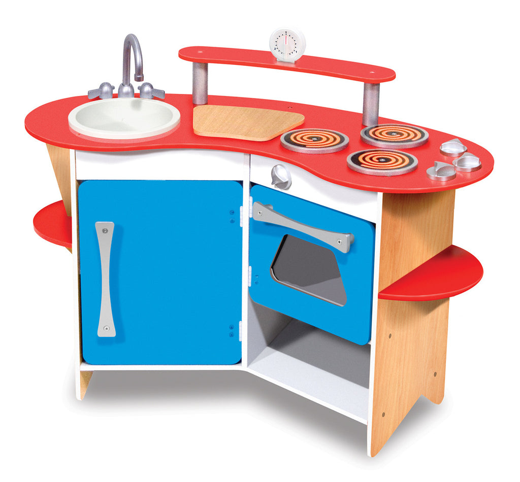 Cook\'s Corner Wooden Play Kitchen – Prodigy Playhouse