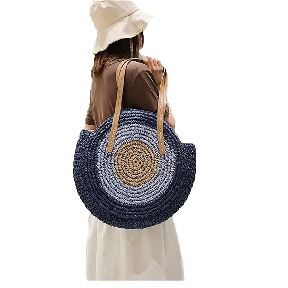 Diana - Straw Woven Beach Bag