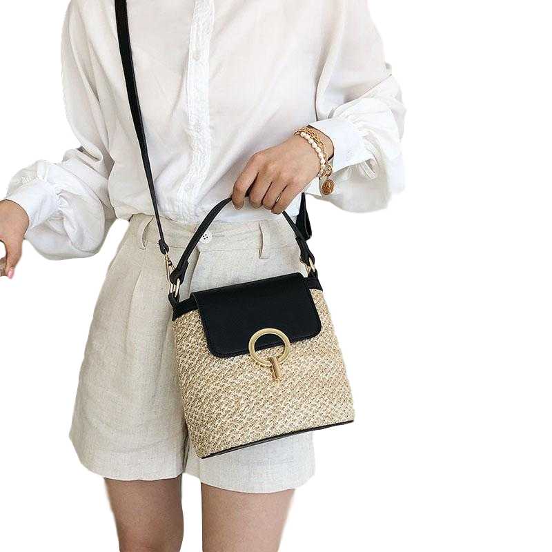Pilet - Straw Shoulder Beach Bag