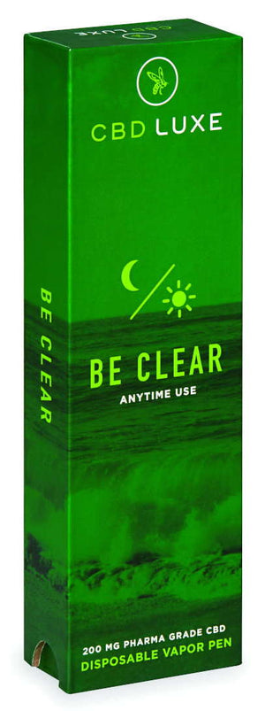 BE Clear Anytime Organic CBD Disposable Vape Pen 200 mg