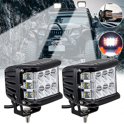 "3.75"" Dual Side Shooter Dual Color Strobe Cree Pods"