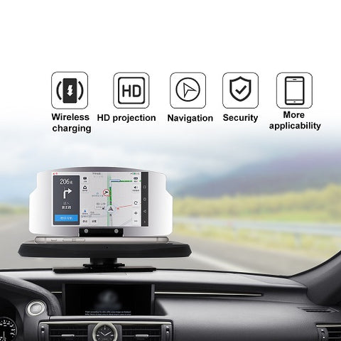 Universal Car HUD Holder Display Image HD Reflector