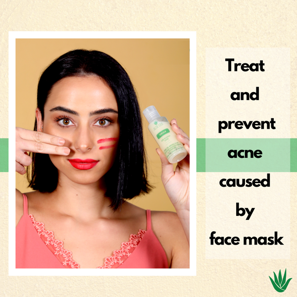 Treat & prevent acne caused by facemask.
