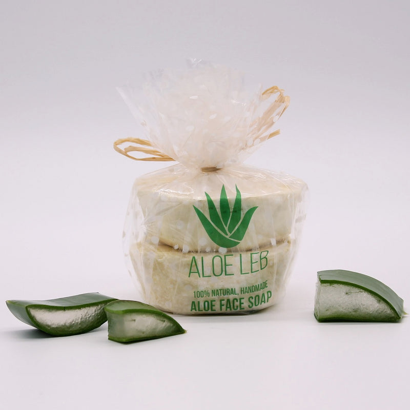 Daily-cleanse, Handmade Aloe facial soap, pack of two - AloeLeb-
