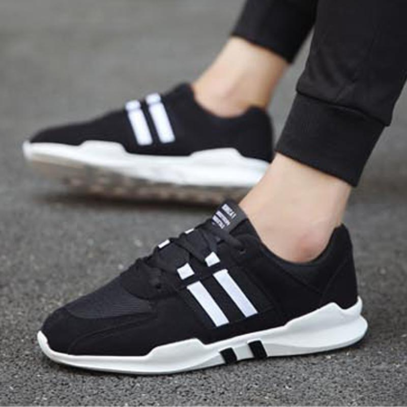 Casual Leather Lace Up Men's Sneakers