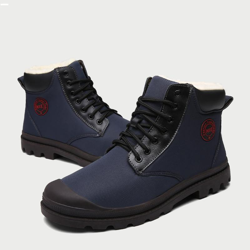 Waterproof Lace Up Men's Boots