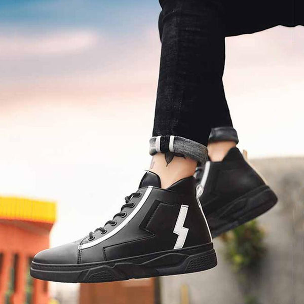 Leather Lace Up Men's Sneakers