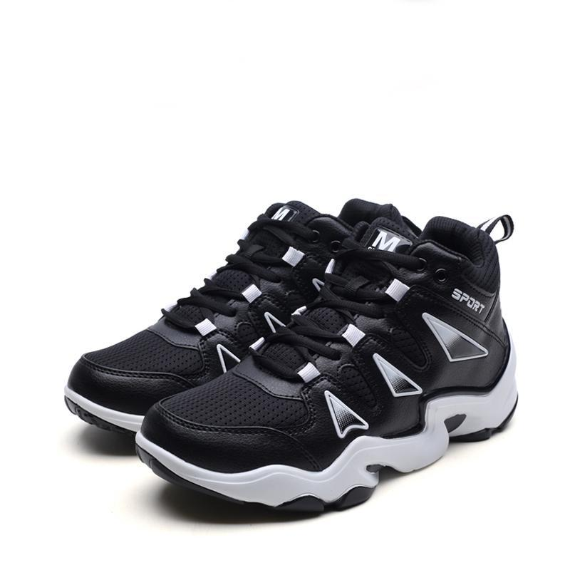 Breathable Synthetic Leather Lace Up Men's Sneakers