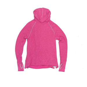 Jane Fonda Pink Long Sleeve Cowl Neck