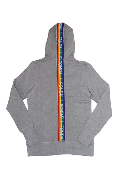 Jane Fonda Heather Grey Rainbow Jogging Suit