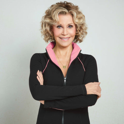 Jane Fonda Zip Front Jacket