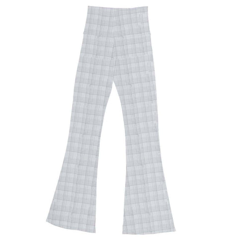 Jane Fonda Grey Plaid Flare Pant