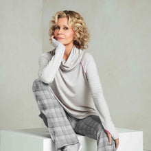 Load image into Gallery viewer, Jane Fonda Grey Long Sleeve Cowl Neck