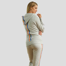 Load image into Gallery viewer, Jane Fonda Heather Grey Rainbow Jogging Suit